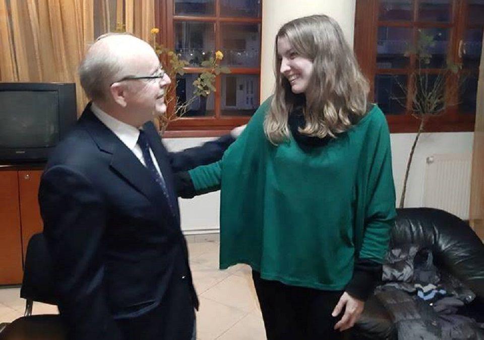 Η Γραμματέας της ΟΚΕ Δήμητρα Τσεκουρά με τον Δήμαρχο του Διδυμότειχου Παρασκευά Πατσουρίδη