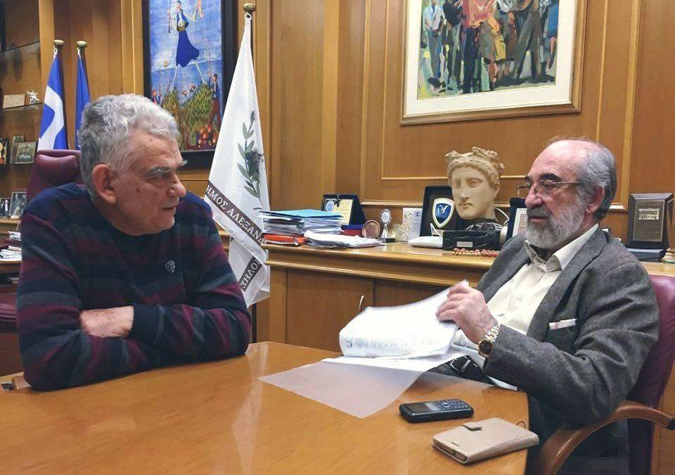 Την παροχή κινήτρων για την εγκατάσταση επιχειρήσεων στον Έβρο συζήτησαν ο Πρόεδρος της ΟΚΕ και ο Δήμαρχος Αλεξ/πολης